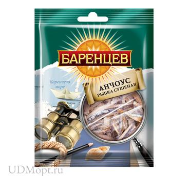 «Баренцев», анчоус сушёно-вяленый, 20г оптом и в розницу