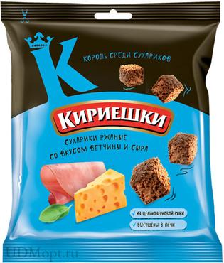 «Кириешки», сухарики со вкусом ветчины и сыра, 40г оптом и в розницу