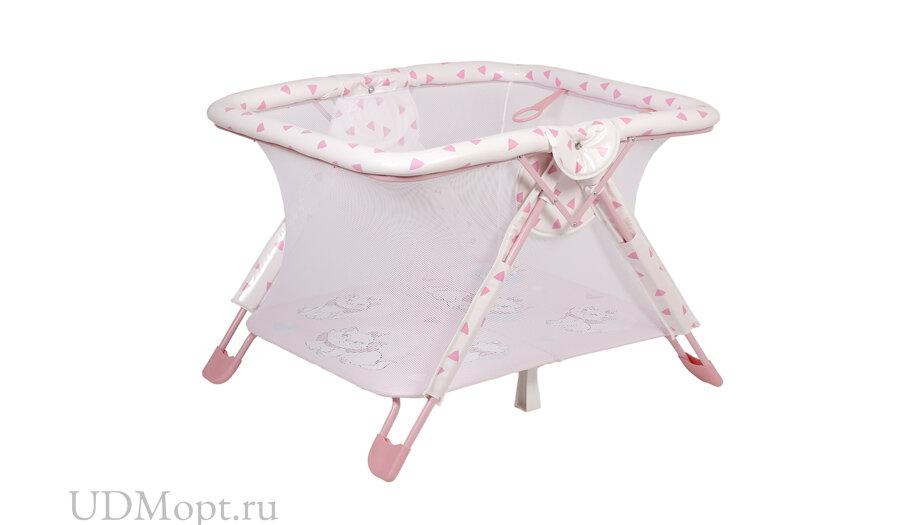 Манеж Polini kids Disney baby Comfort Кошка Мари, розовый оптом и в розницу