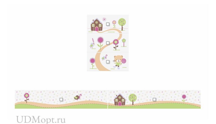 Фасад к кроватке детской Polini kids Simple 1100 Пряничный домик оптом и в розницу