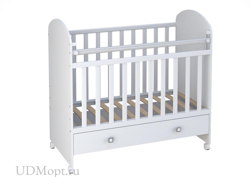 Кроватка детская Фея 700 белый оптом и в розницу