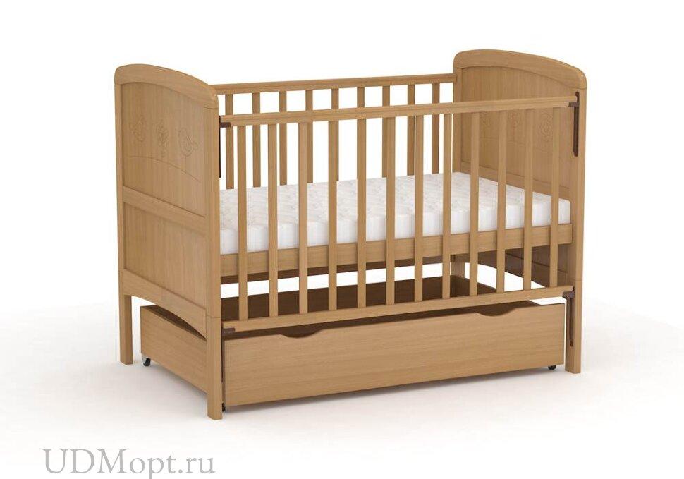 Детская кровать-трансформер Фея 821 медовый оптом и в розницу