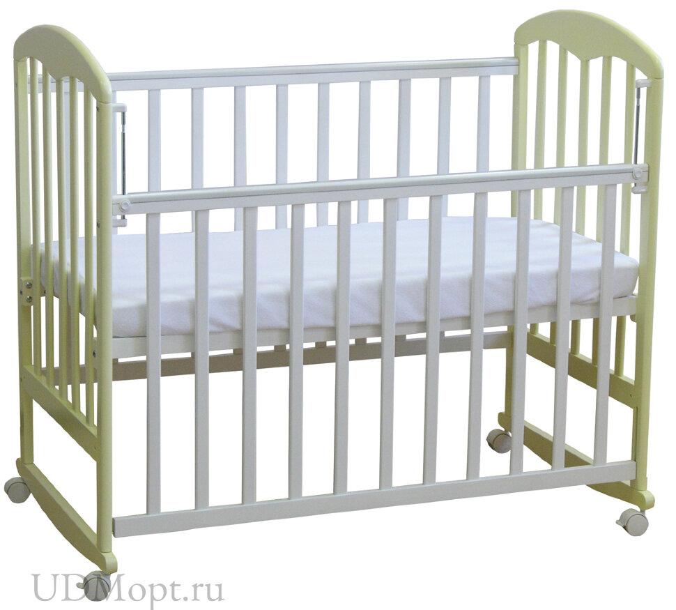 Кровать детская Фея 323 белый-ваниль оптом и в розницу