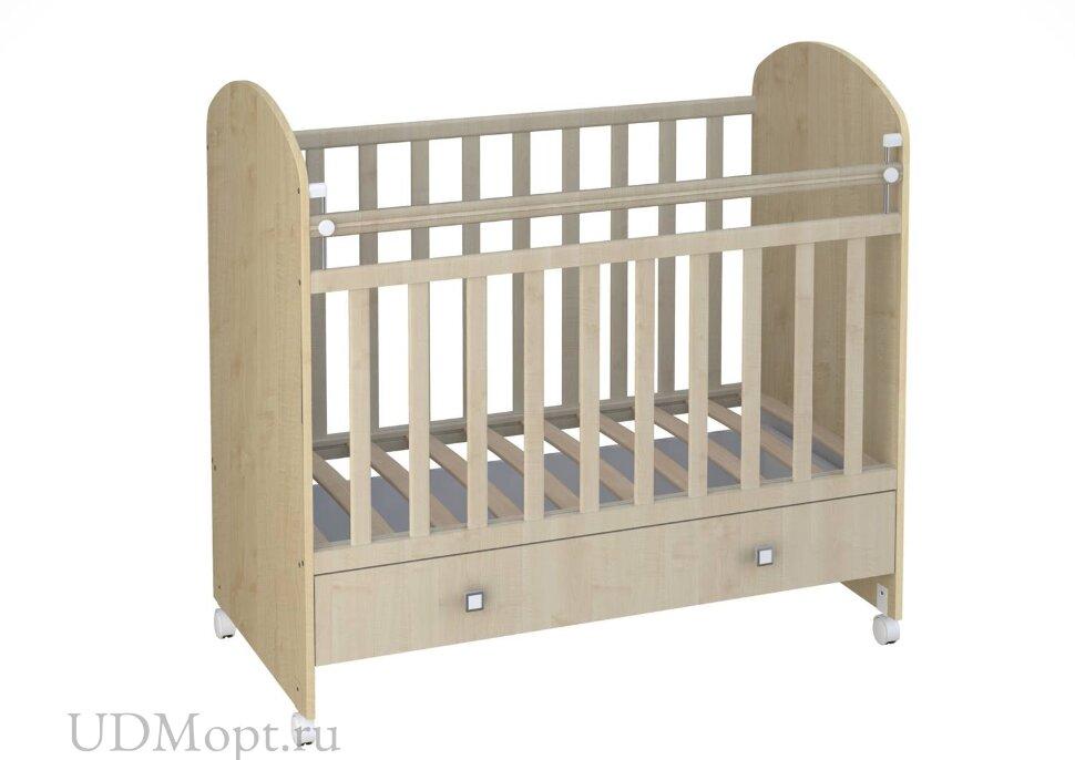 Кроватка детская Фея 700 клен оптом и в розницу