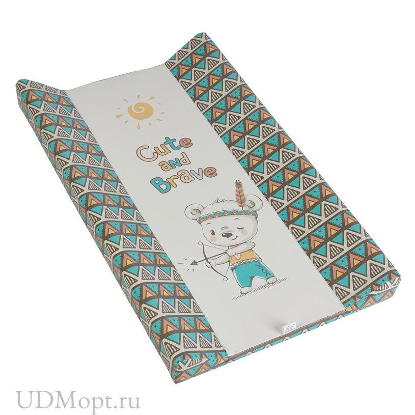 Доска пеленальная Polini kids Храбрый мишка, для детских кроватей оптом и в розницу