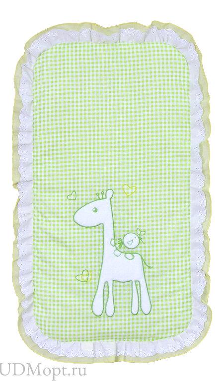 """Комплект в детскую коляску Fairy """"Жирафик"""", зеленый оптом и в розницу"""