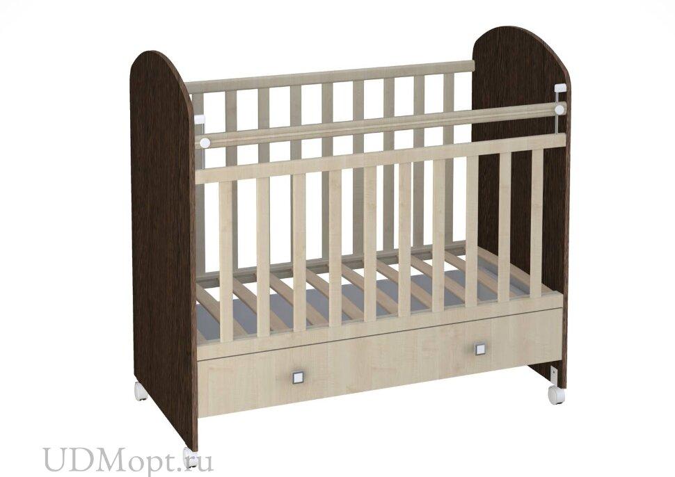 Кроватка детская Фея 700 венге-клён оптом и в розницу