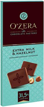 «OZera», шоколад молочный Extra milk & Hazelnut, 90г оптом и в розницу