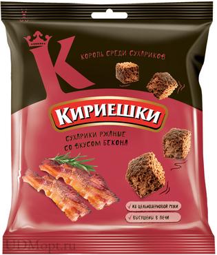«Кириешки», сухарики со вкусом бекона, 40г оптом и в розницу