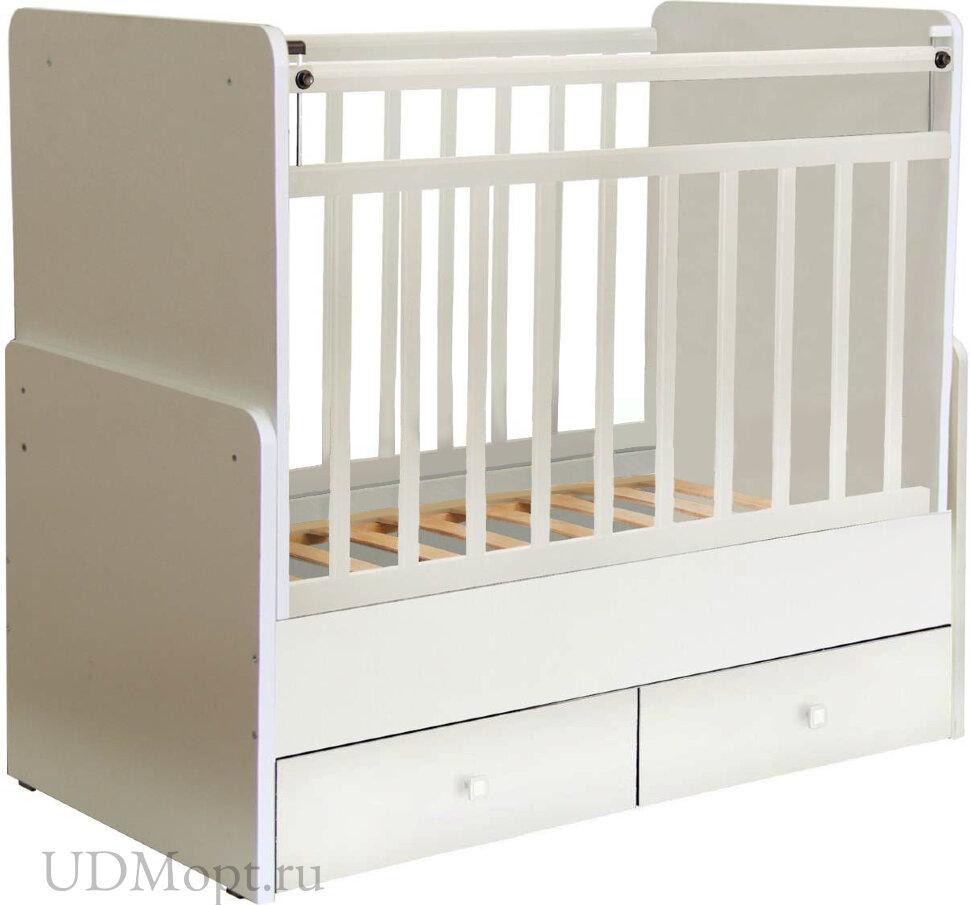 Кроватка детская Фея 720 белый оптом и в розницу