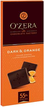 «OZera», шоколад горький с апельсиновым маслом Dark&Orange, 90г оптом и в розницу