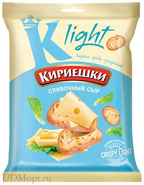 «Кириешки Light», сухарики со вкусом сливочного сыра, 33г оптом и в розницу