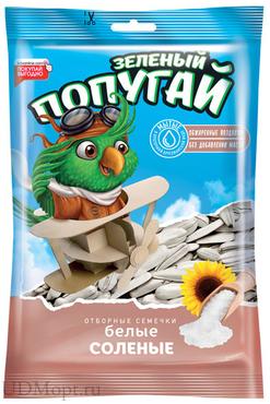 «Зелёный попугай», семечки жареные, белые, солёные, 100г оптом и в розницу