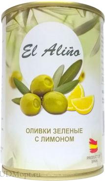 «EL alino», оливки крупные с лимоном, 270г оптом и в розницу