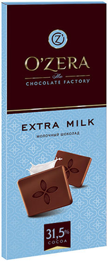 «OZera», шоколад молочный Extra milk, 90г оптом и в розницу