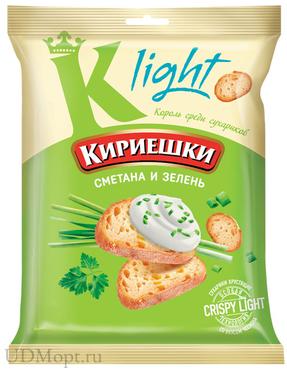 «Кириешки Light», сухарики со вкусом сметаны и зелени, 33г оптом и в розницу