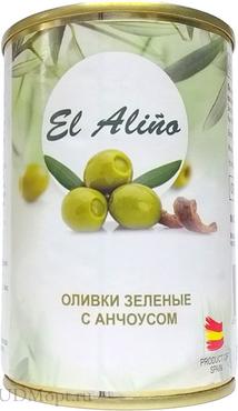 «EL alino», оливки крупные с анчоусами, 270г оптом и в розницу