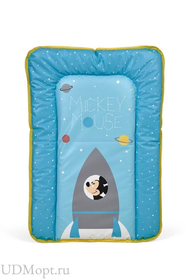 Матрас для пеленания Polini Kids Disney baby Микки Маус, 70х50 см, голубой оптом и в розницу