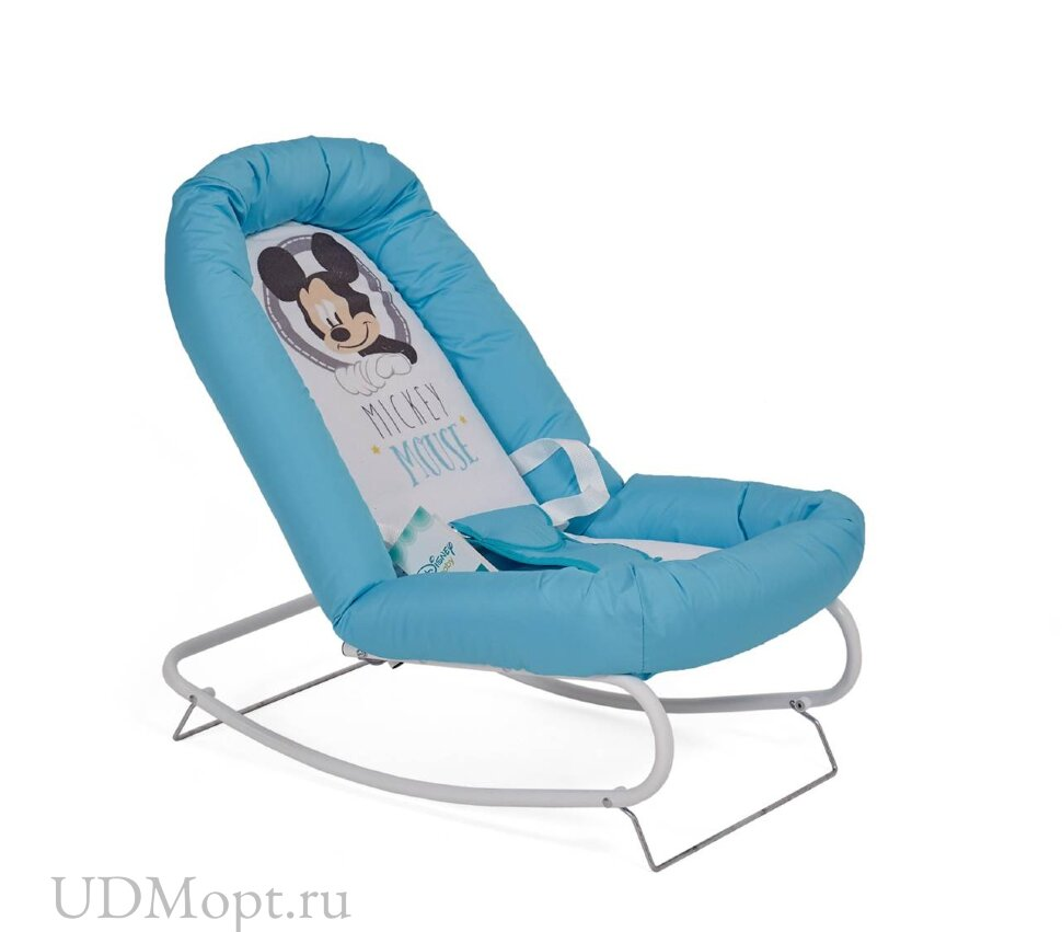 Детский шезлонг Polini kids Disney baby Микки Маус, голубой оптом и в розницу