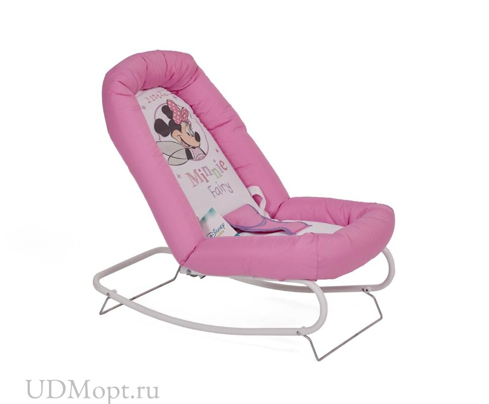 Детский шезлонг Polini kids Disney baby Минни Маус, розовый оптом и в розницу