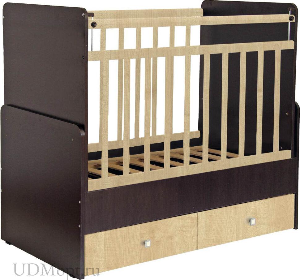 Кроватка детская Фея 720 венге-клен оптом и в розницу
