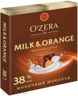 «OZera», шоколад молочный Milk & Orange, 90г оптом и в розницу