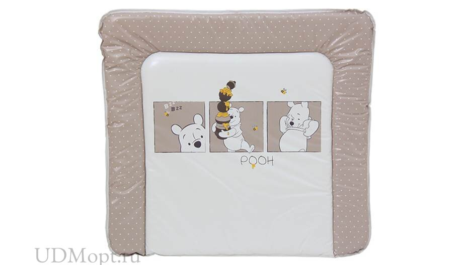 Доска пеленальная мягкая Polini kids Disney baby Медвежонок Винни, белый-макиато оптом и в розницу