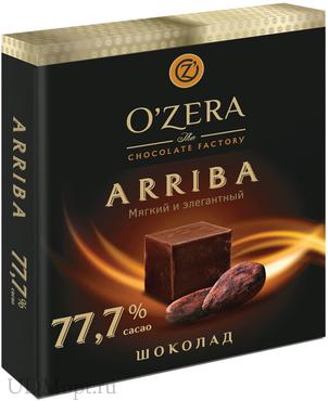 «OZera», шоколад Arriba, содержание какао 77,7%, 90г оптом и в розницу