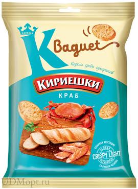 «Кириешки Baguet», сухарики со вкусом краба, 50г оптом и в розницу