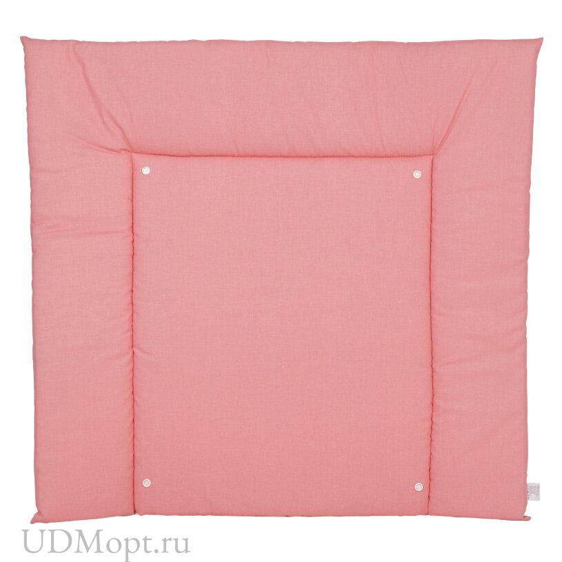 Матрас для пеленания двухсторонний Polini kids Жираф, со съемным вкладышем, розовый оптом и в розницу