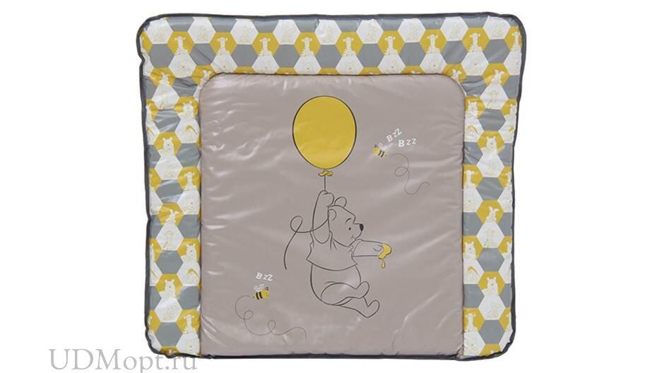 Доска пеленальная мягкая Polini kids Disney baby Медвежонок Винни и его друзья, макиато-желтый оптом и в розницу