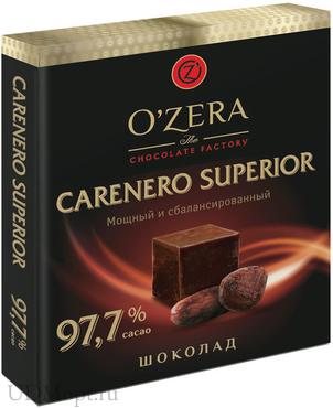 «OZera», шоколад Carenero Superior, содержание какао 97,7%, 90г оптом и в розницу