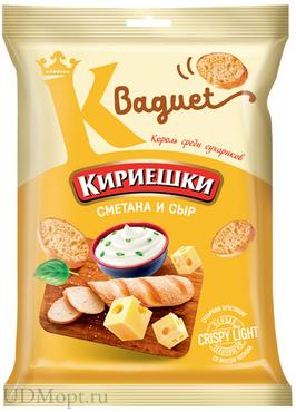 «Кириешки Baguet», сухарики со вкусом сметаны и сыра, 50г оптом и в розницу
