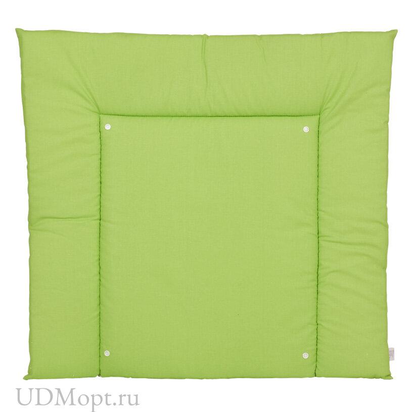 Матрас для пеленания двухсторонний Polini kids Жираф, со съемным вкладышем, зеленый оптом и в розницу