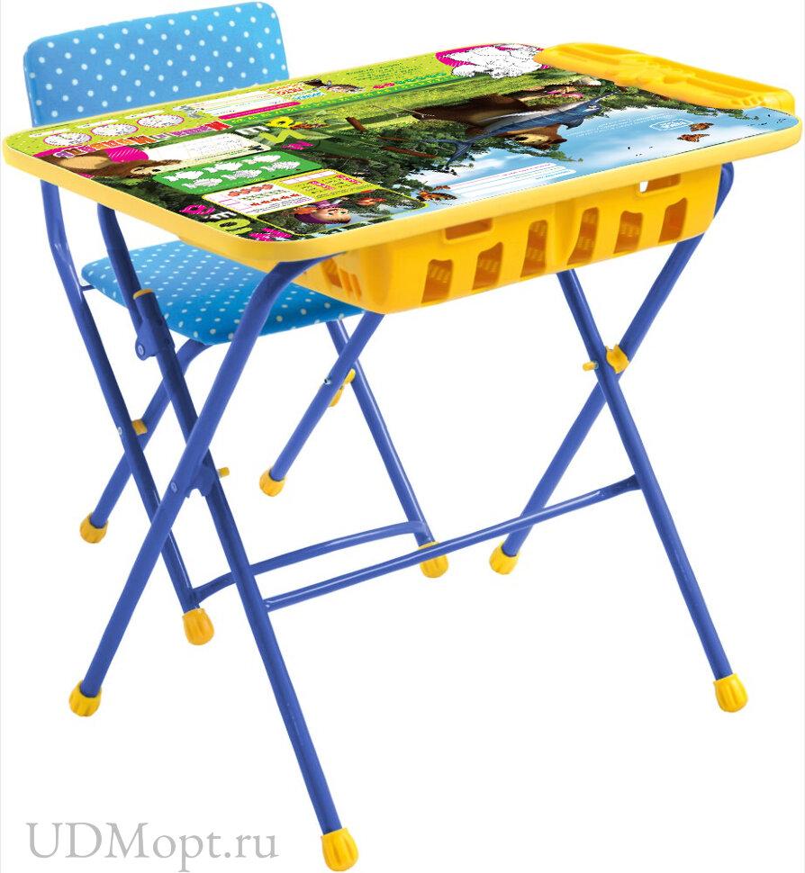 Комплект детской мебели Nika Маша и медведь КУ2П с большим пеналом и мягким сиденьем оптом и в розницу