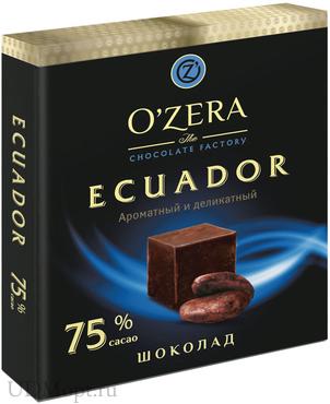 «OZera», шоколад Ecuador, содержание какао 75%, 90г оптом и в розницу