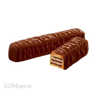 Вафли в карамели, в молочно-шоколадной глазури (коробка 2кг) оптом и в розницу