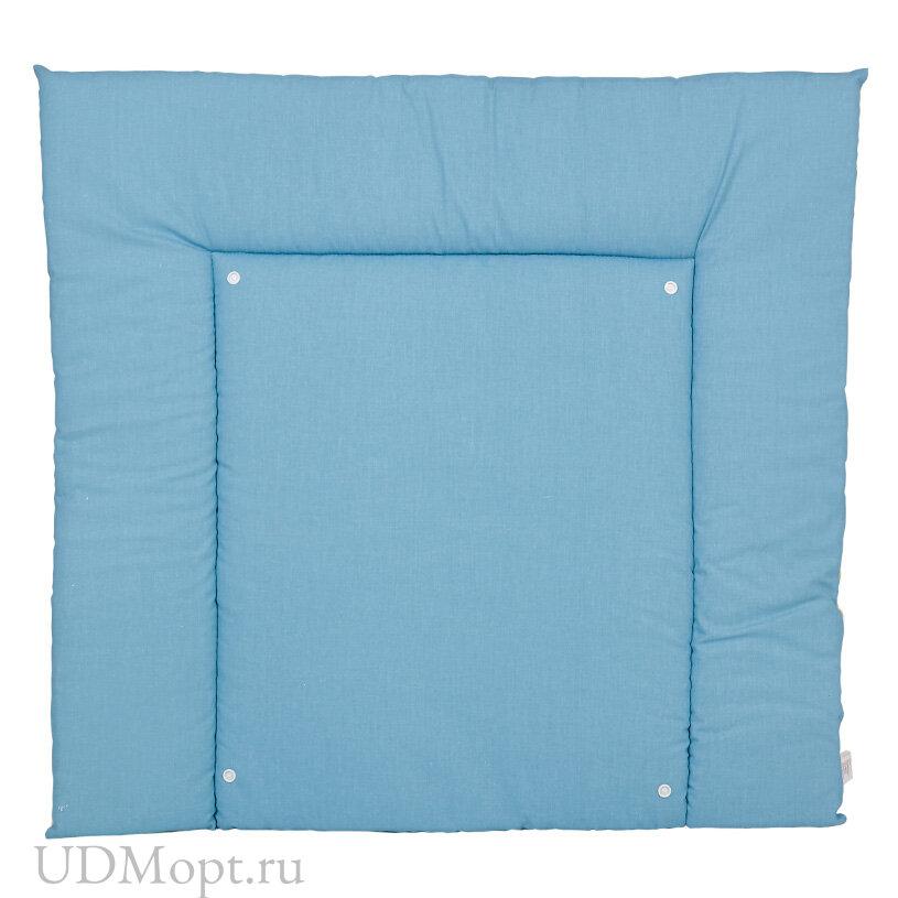 Матрас для пеленания двухсторонний Polini kids Жираф, со съемным вкладышем, голубой оптом и в розницу
