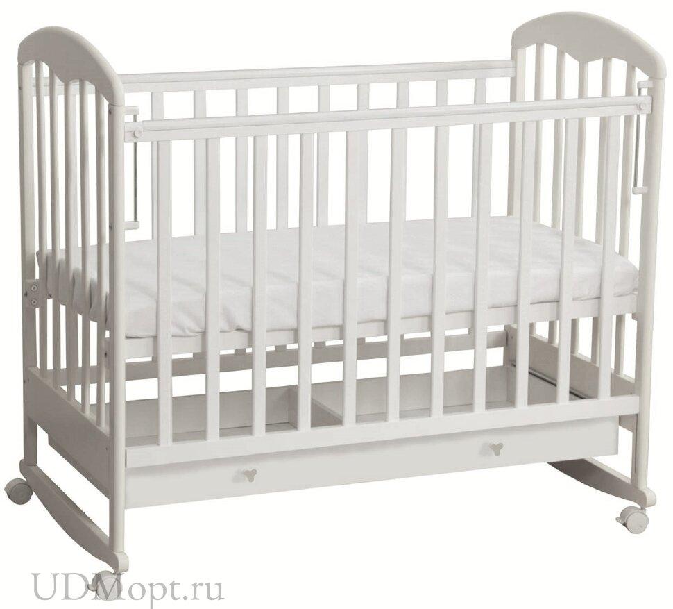 Кровать детская Фея 325 белый оптом и в розницу