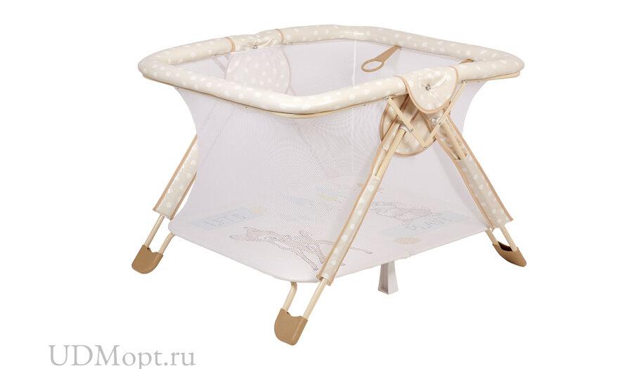 Манеж Polini kids Disney baby Comfort Бэмби, бежевый оптом и в розницу