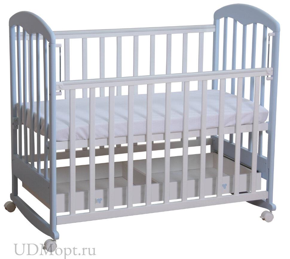 Кровать детская Фея 325 белый-лазурь оптом и в розницу