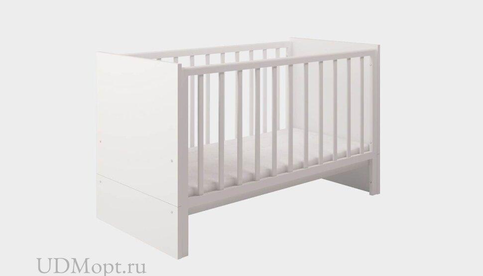 Кроватка детская Polini kids Classic 140х70см, белый снег оптом и в розницу