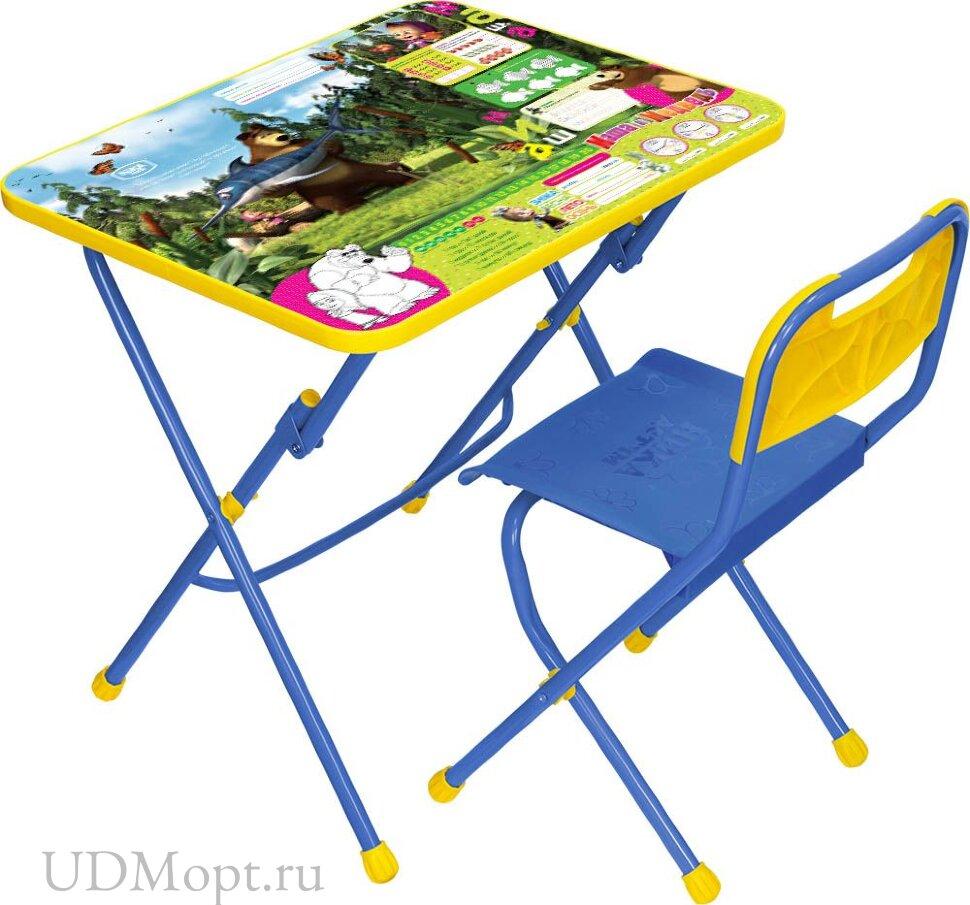 Комплект детской мебели Nika Маша и медведь КПУ1 с подставкой для ног оптом и в розницу