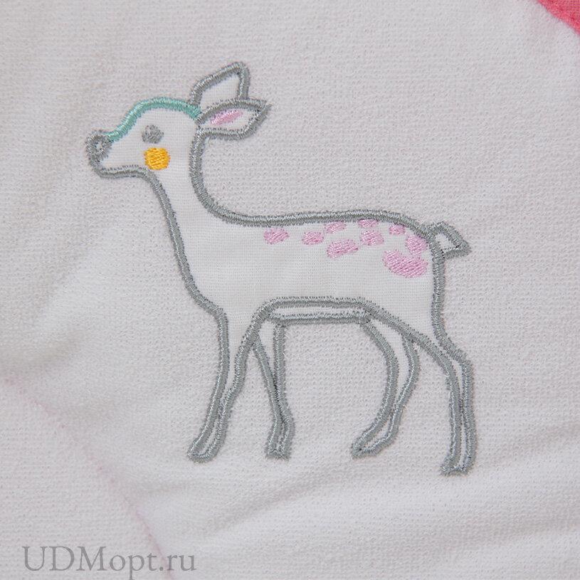Доска пеленальная Polini kids Disney Последний богатырь с вышивкой, розовый 77х72 см оптом и в розницу