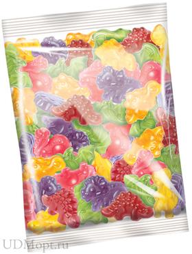 Мармелад жевательный со вкусом маракуйи, граната, персика, винограда, малины и груши (упаковка 1кг) оптом и в розницу