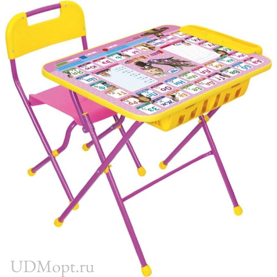 Комплект детской мебели Nika Маша и медведь КПУ2П с большим пеналом оптом и в розницу