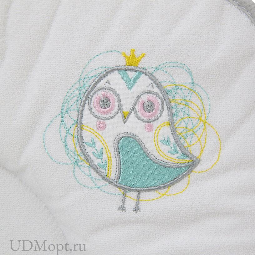 Доска пеленальная Polini kids Disney Последний богатырь с вышивкой, серый 77х72 см оптом и в розницу