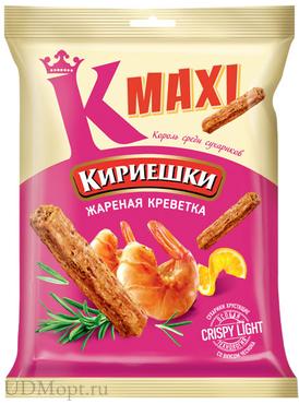 «Кириешки Maxi», сухарики со вкусом жареных креветок, 60г оптом и в розницу