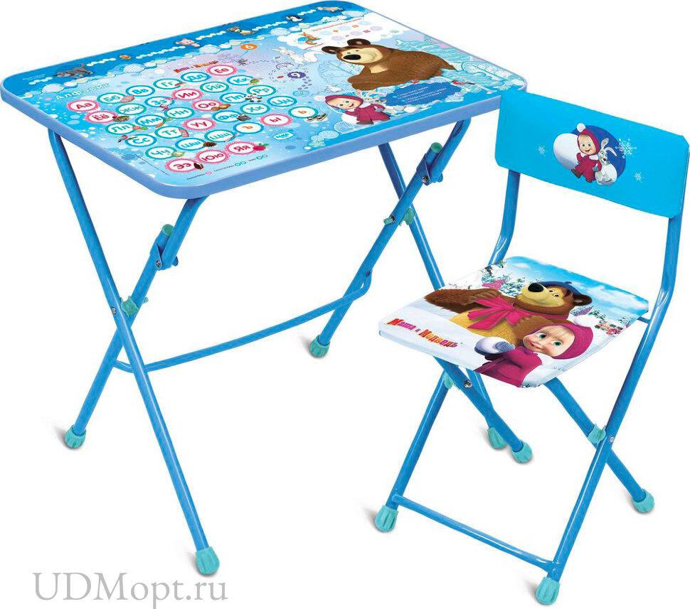 Комплект детской мебели Nika Маша и медведь КУ1 с мягким сиденьем оптом и в розницу