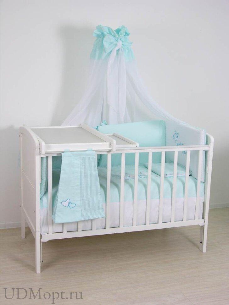 Доска пеленальная Polini kids для детских кроватей, с полкой, белый оптом и в розницу